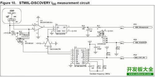stm8 discovery中idd电流测试电路