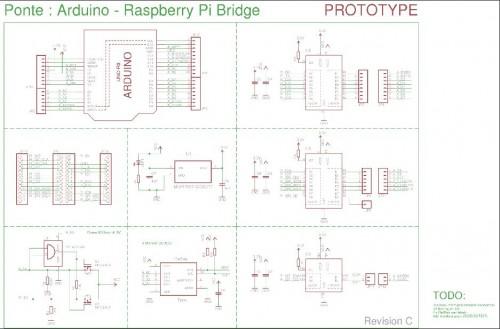 电路板,除了用来连接arduino和raspberry pi外,亦可以连接arduino扩展