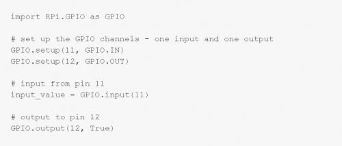 设置GPIO的Python程式