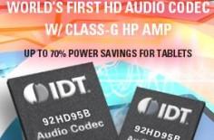 IDT 92HD95B 是一款拥有 24 位分辨率的四通道高清音频解码器