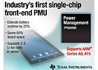 TI推出首款單芯片前端電源管理單元(PMU)--TPS65090