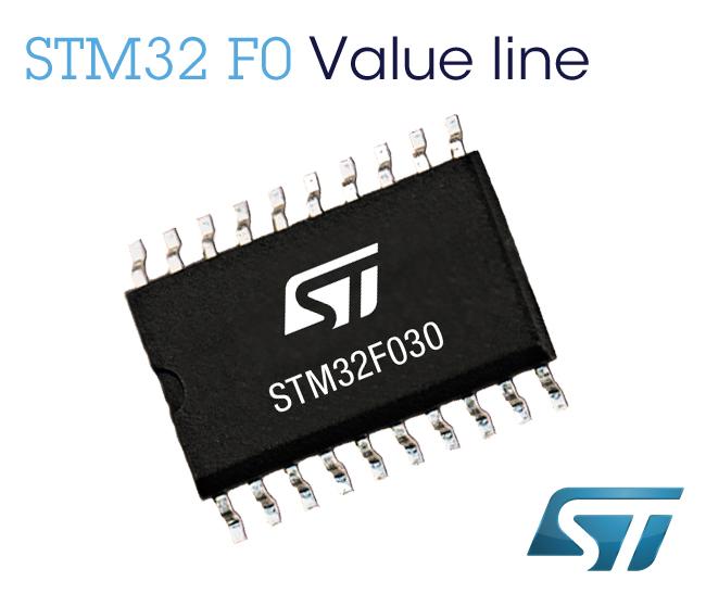 ST新32位性能STM32微控器 32美分横扫设计市场