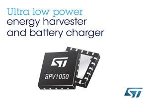 意法半导体(ST)先进能?#35789;?#38598;IC SPV1050内置1.8V和3.3V稳压电器