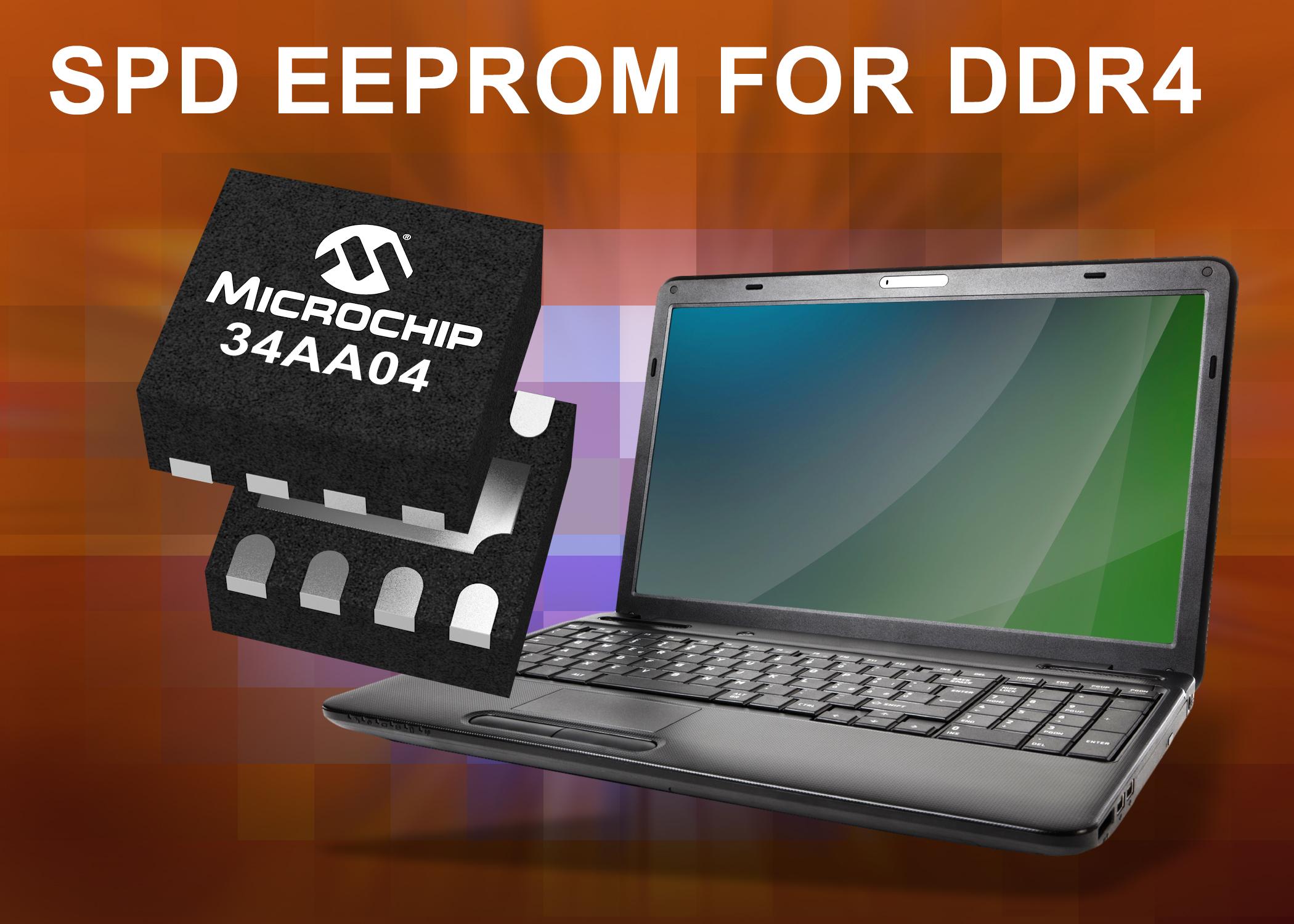 Microchip推出用于DDR4 SDRAM??榈? Kb串行存在检测EEPROM器件