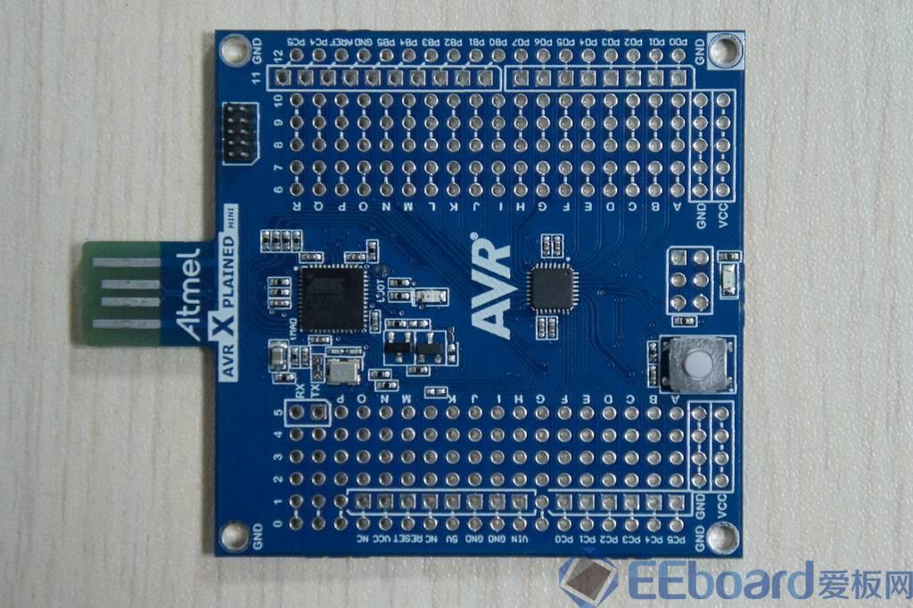 完全自由diy的迷你评估板——atmega xplained mini评测 开发板测评 microchip技术社区