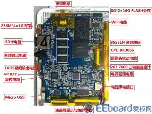 台电P85双核平板 主板分析