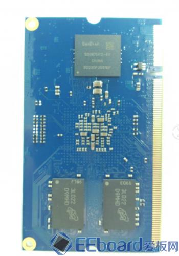 MY-I.MX6开发板核心板 反面