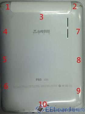 台电P85双核平板 拆解顺序