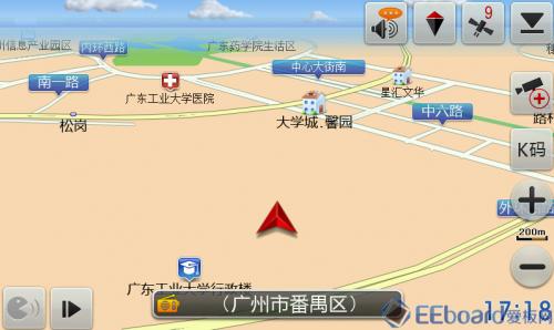 GPS接收器 导航界面