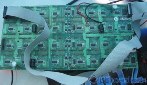 LPC2378控制板背面