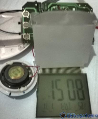 NXP LOGO闹钟 白色塑料板