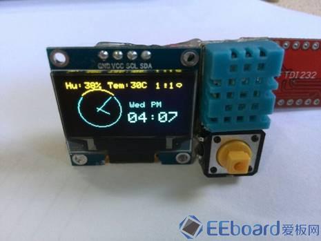 DIY蓝牙手表 显示方式 添加温湿度