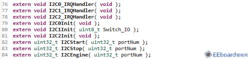 I2C的例程
