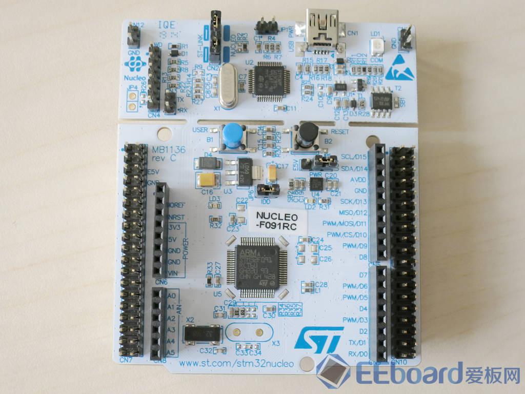 Nucleo平臺最新開發利器——ST Nucleo-F091RC開發板評測
