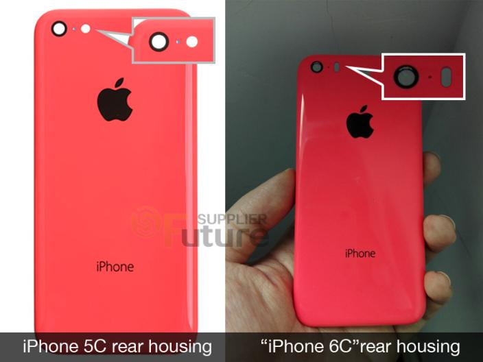 疑似iPhone 6c后蓋照曝光,6c=5c+5s?