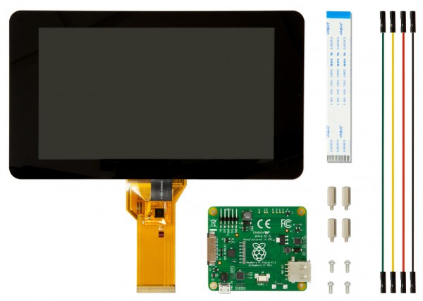 Raspberry Pi有官方屏幕了:7英寸支持触控