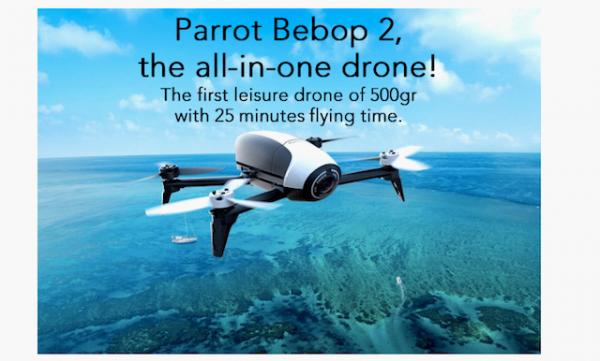 Parrot推新无人机Bebop 2 Drone:续航和性能大幅提升