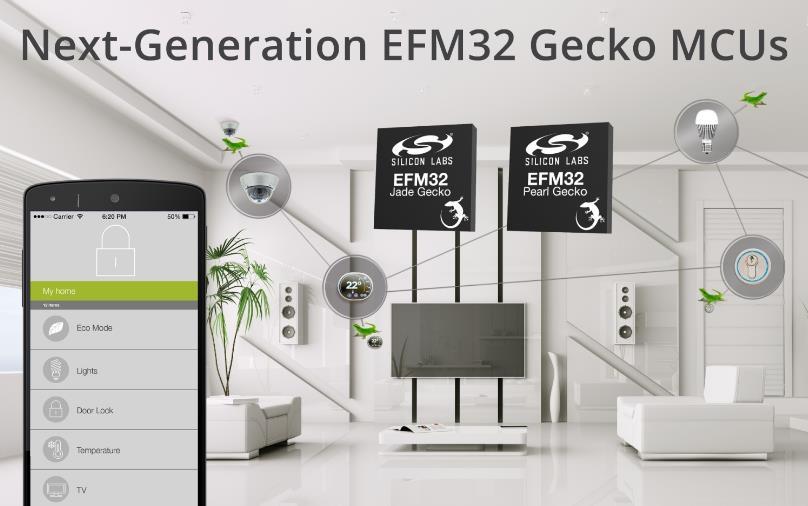Silicon Labs发布新款EFM32 Jade和Pearl Gecko微控制器增强IoT节点安全