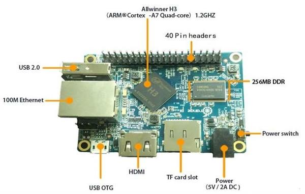 10美元四核迷你開發板Orange Pi PC發售