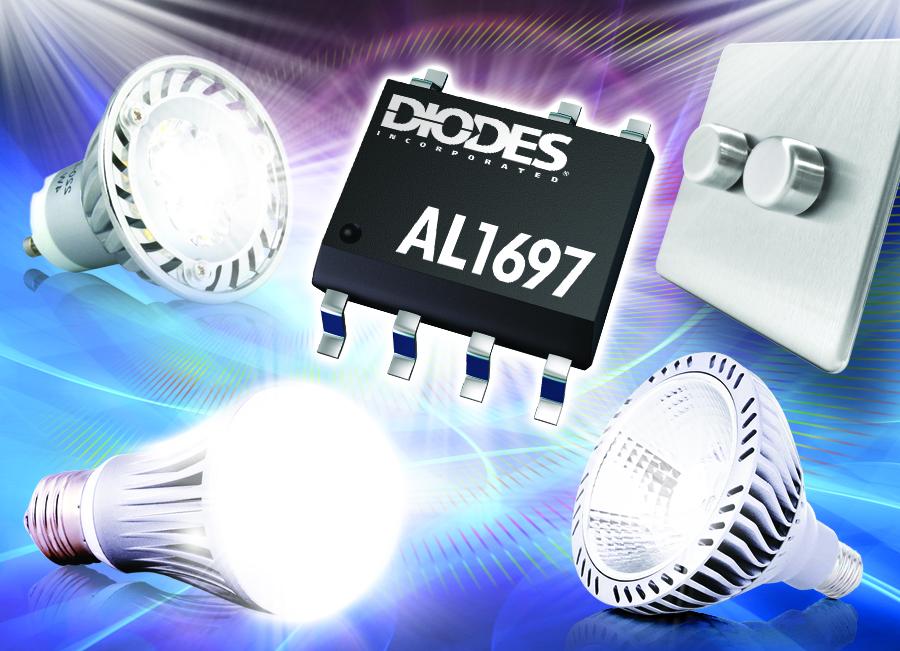 Diodes Triac可调光 LED 驱动器 为230/120VAC灯完善调光器兼容性
