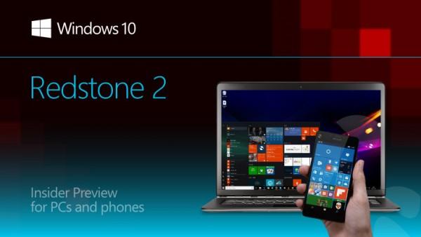 Windows 10 Redstone 2首個版本將發布