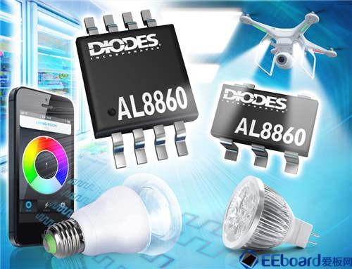 Diodes 公司低待机功耗模式的恒流 DC-DC LED 驱动器提供高达40W 输出功率