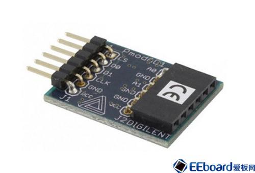 PmodAD1 12位双信道模拟数字转换器