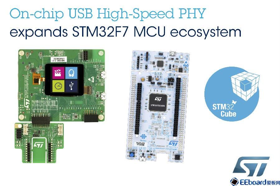 意法半導體推出最新的STM32F722 Nucleo開發板和STM32F723探索套件
