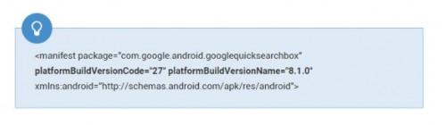 Android 8.1 的系统 API 级别和系统版本号