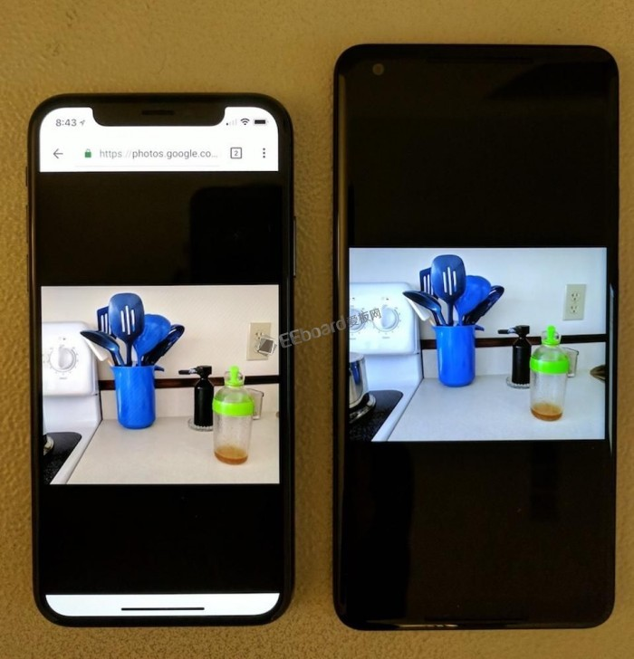 对比iPhone X与Pixel 2 XL的屏幕?孰强孰弱一看便知