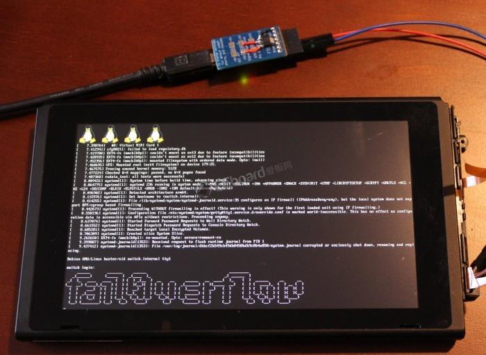 任天堂Switch被黑客破解 直接安装运行Linux