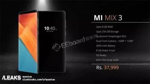 小米MIX 3再出爆料——印度海报泄露,确认搭载骁龙855
