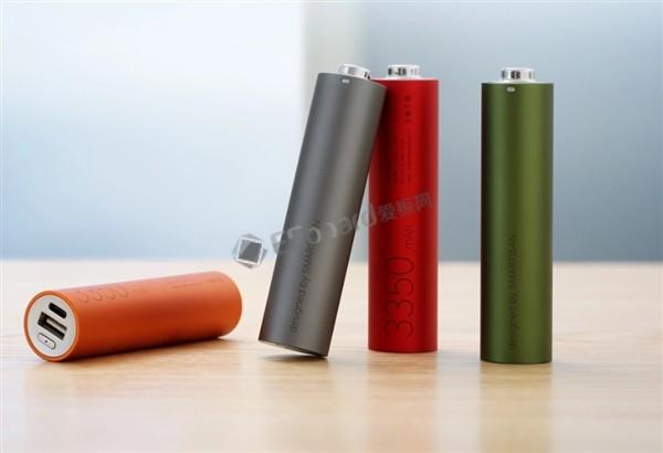 """坚果-全新升级的""""电池形电池""""移动电源(手电筒版)来也"""
