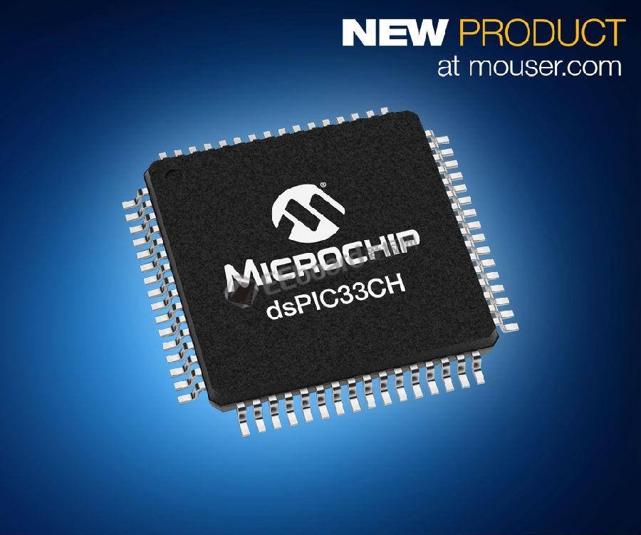 Microchip dsPIC33CH双核数字信号控制器在贸泽开售