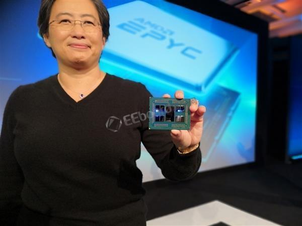 1U服务器集成16颗AMD 64核心霄龙:全水冷散热
