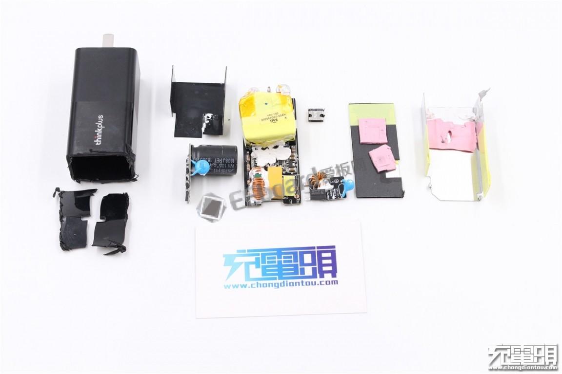聯想thinkplus USB PD充電器PA65拆解:如何做到如此小巧如此便攜?