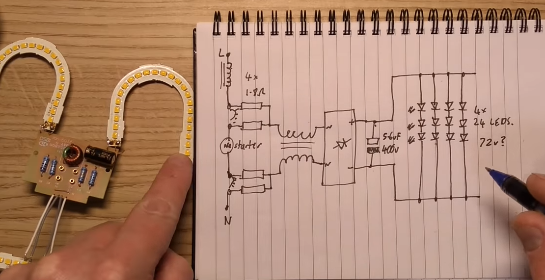 一次失败的换2D LED体验:根据PCB设计分析电路原理(原理图)