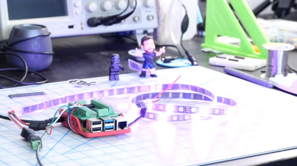 树莓派4B项目:用手势控制Neopixels智能LED灯条