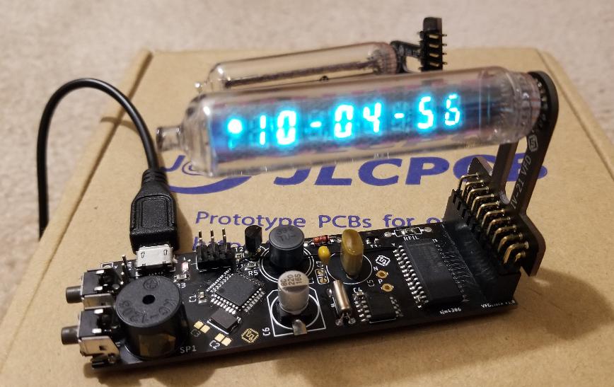 DIY一個基于IV-21的VFD管的數字時鐘方案