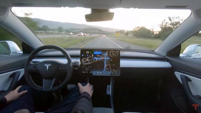 看看特斯拉Model 3如何完成一趟全自动驾驶