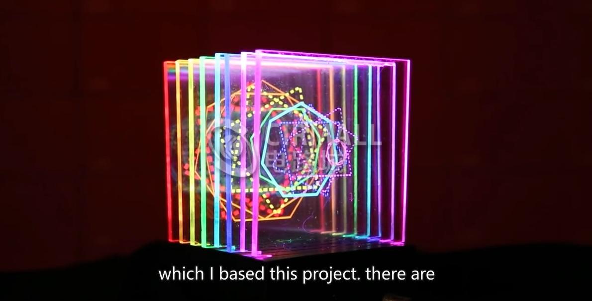 任你发挥创意的灯光雕塑