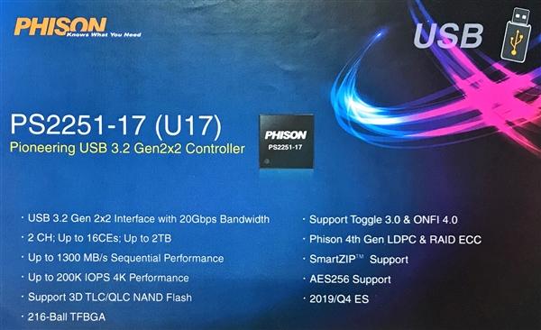 刷新便携式SSD速度极限,USB 3.2主控