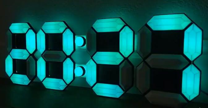 [项目实录]DIY一台炫酷的3D 7段数字时钟