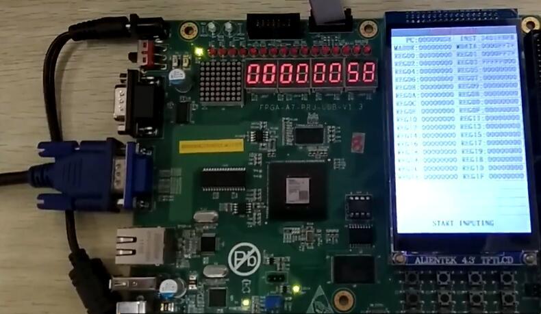 【项目展示】FPGA-五级流水CPU