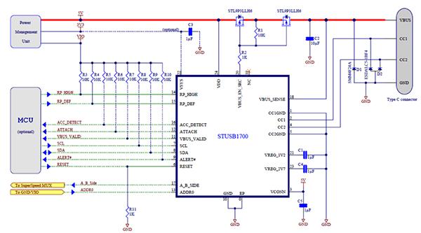 USB Type-C 電力傳輸電路設計
