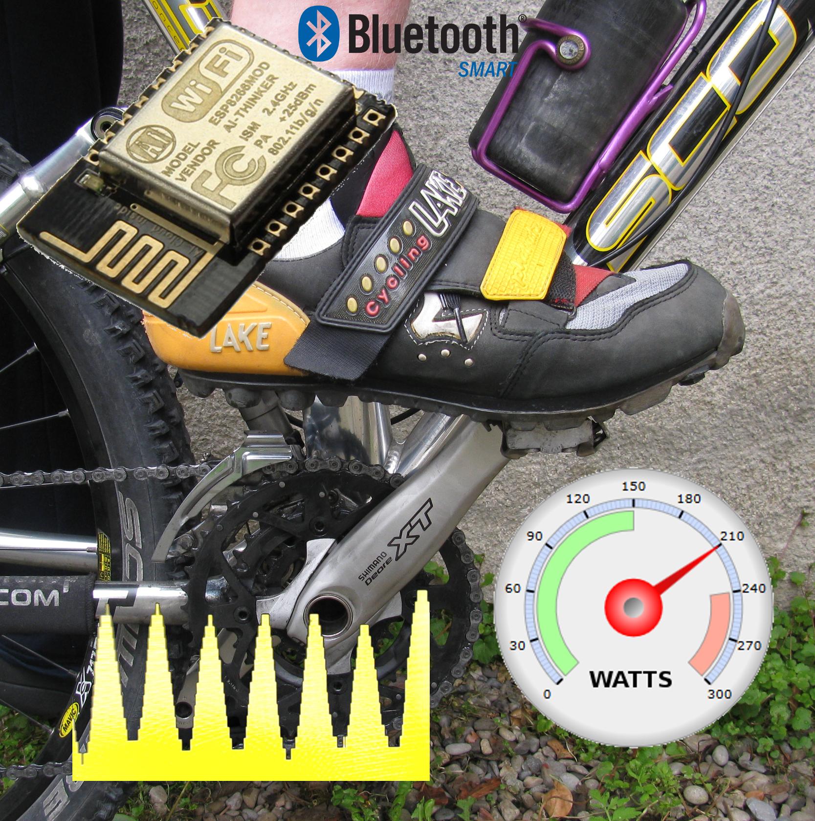 """ESPeedo ESP8266自行车""""动力""""传感器-经济有效的自行车运动员健身力向量仪"""