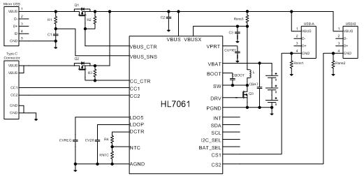 重新定義充電:基于HL7061的USB Type-C充電電路電路設計