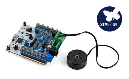 具有NUCLEO-G431RB和X-NUCLEO-IHM16M1的电机控制核包:P-CORE-IHM03开发板