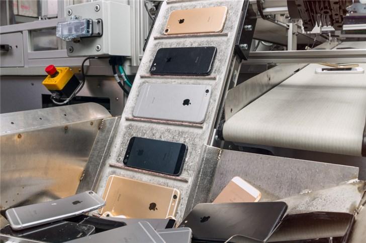 值得敬佩:苹果尝试回收旧iPhone零件制造新iPhone