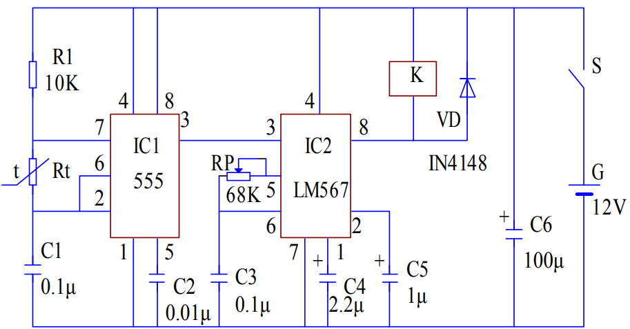 基于NE555時基芯片的自動溫度控制電路設計